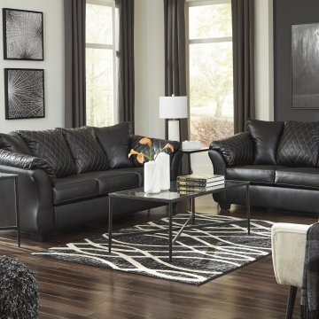 Betrillo Black Sofa and Loveseat Set