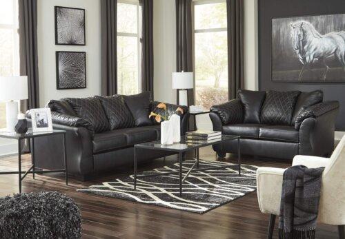 Betrillo Black Sofa and Loveseat Set