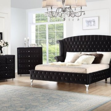 Deanna Black Bedroom Set