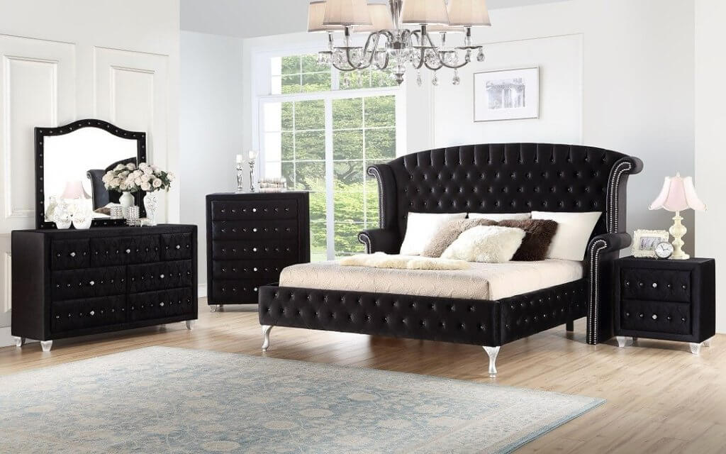 Deanna Black Bedroom Set Urban Furniture Outlet