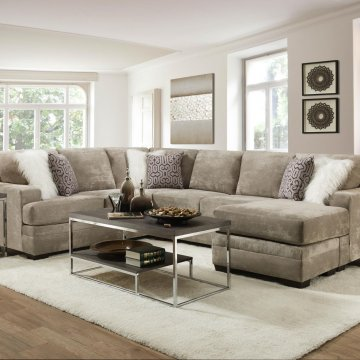 Hearth Cement Chaise Sectional