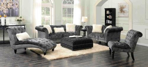 Twain Grey Living Room Set