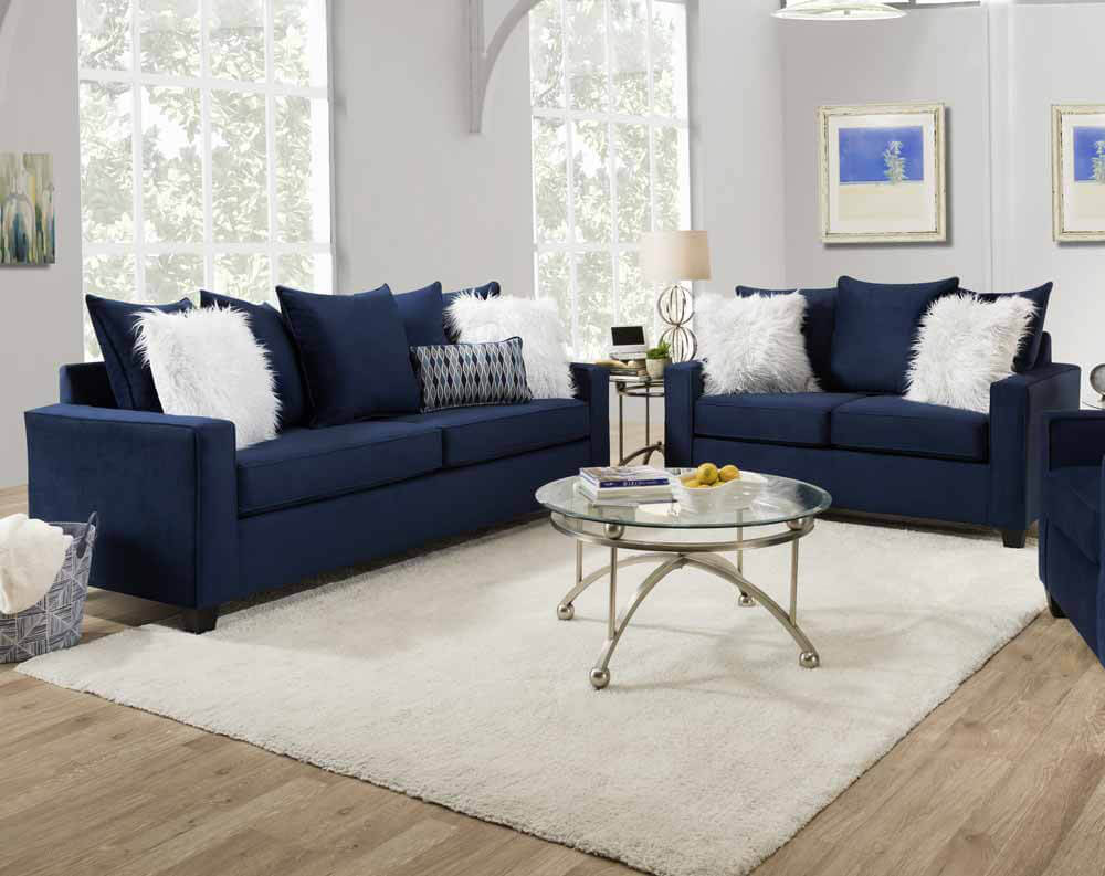 Andrew Indigo Blue Sofa And Loveseat Urban Furniture Outlet