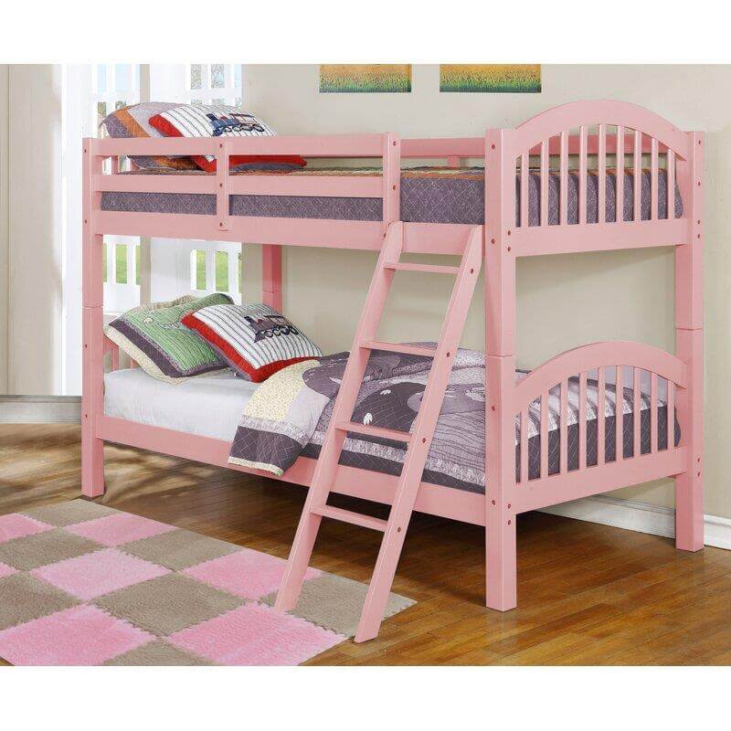 4472 Pink Twin Over Twin Bunk Bed Urban Furniture Outlet