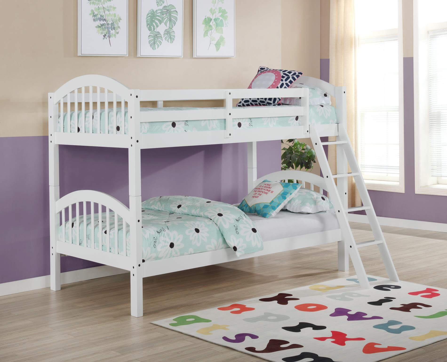 Picture of: 4472 White Twin Over Twin Bunk Bed Urban Furniture Outlet