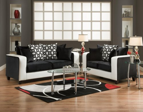 implosion black & white sofa