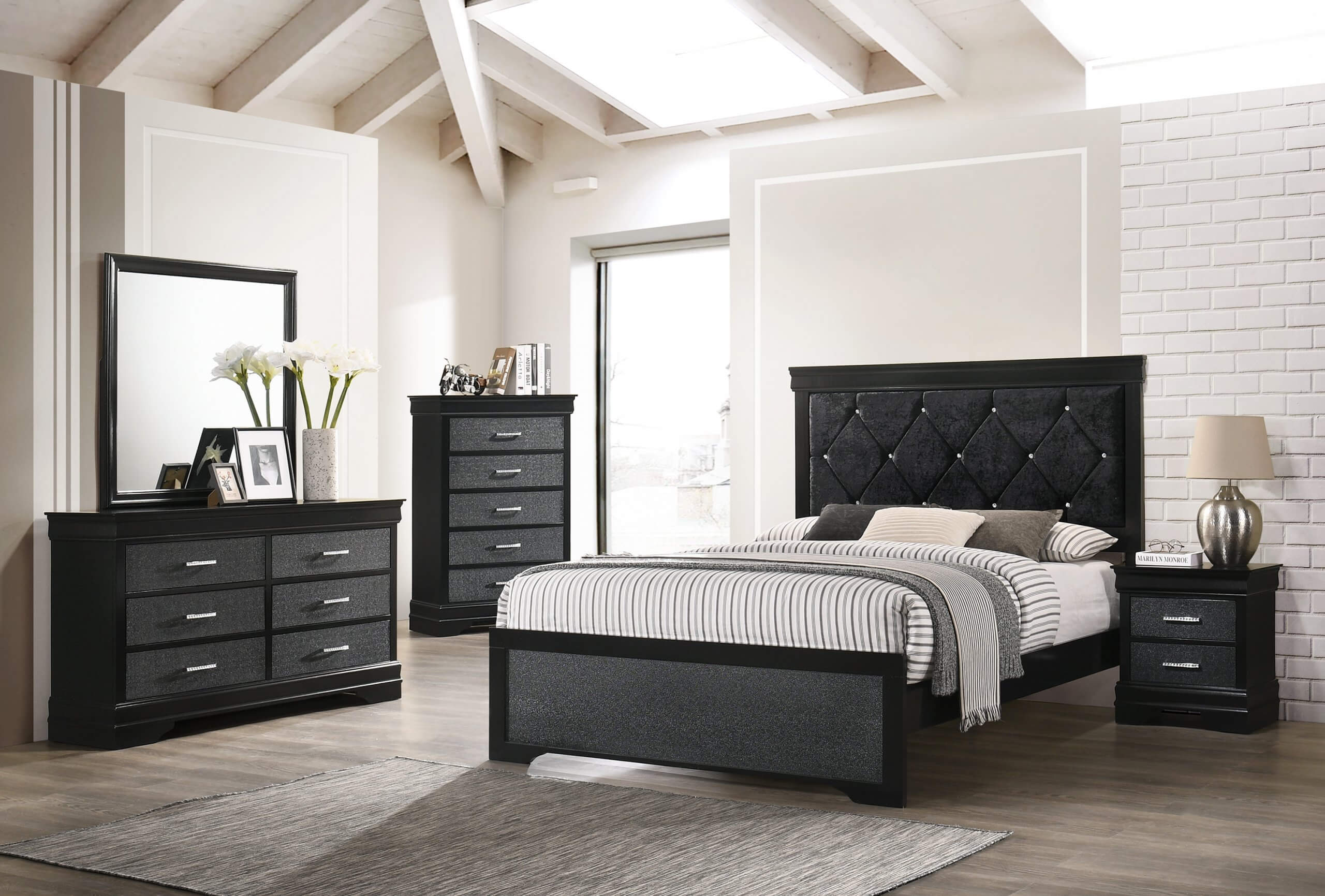 Black Amalia Bedroom Set Kids Bedroom Sets