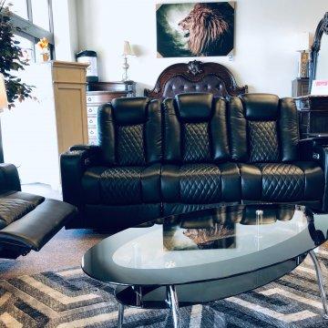 Terminator Black Power Reclining Sofa