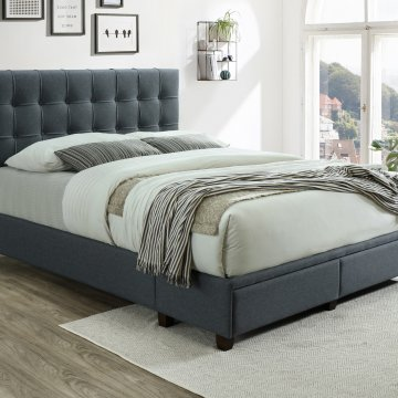 Antoine Grey Upholstered Bed