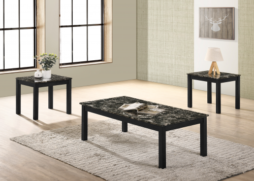Thurner Faux Marble Coffee and End Table Set