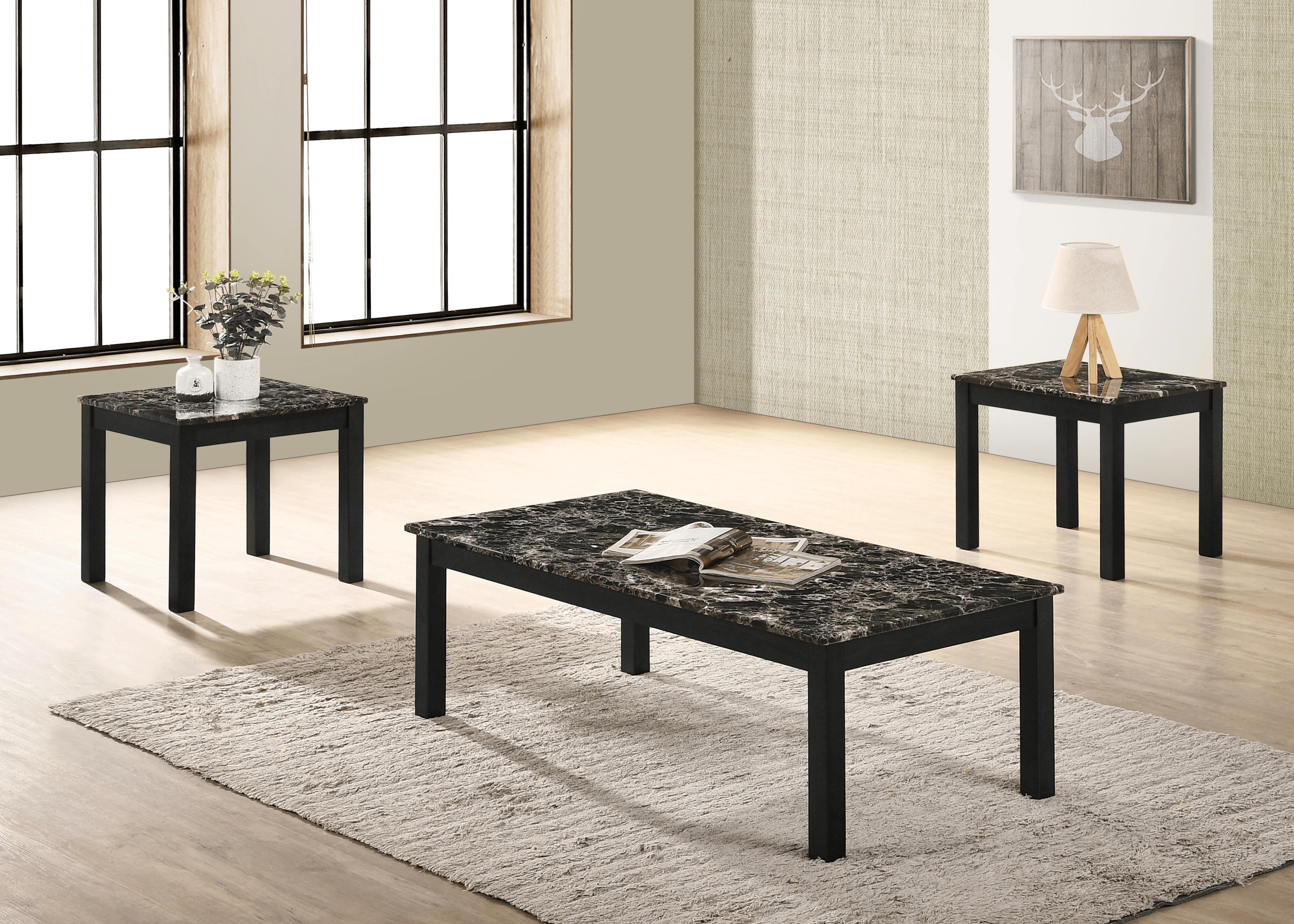 Thurner Faux Marble Coffee And End Table Set Urban Furniture Outlet