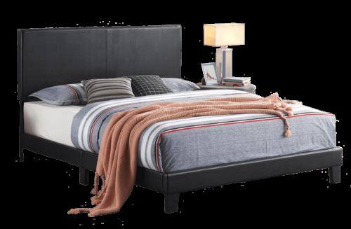 Yates Black Platform Style Bed