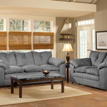 Bulldozer Graphite Sofa and Loveseat