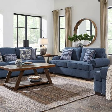 Lacy Indigo Living Room Set