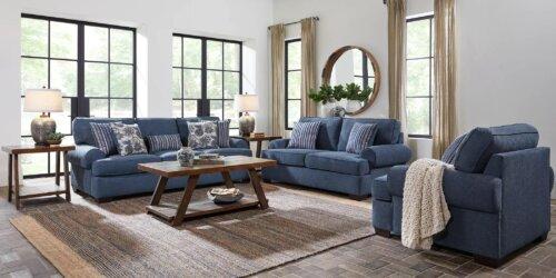 Lacy Indigo Living Room Set