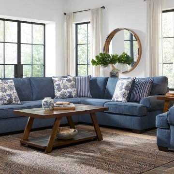 Lacy Indigo Sectional