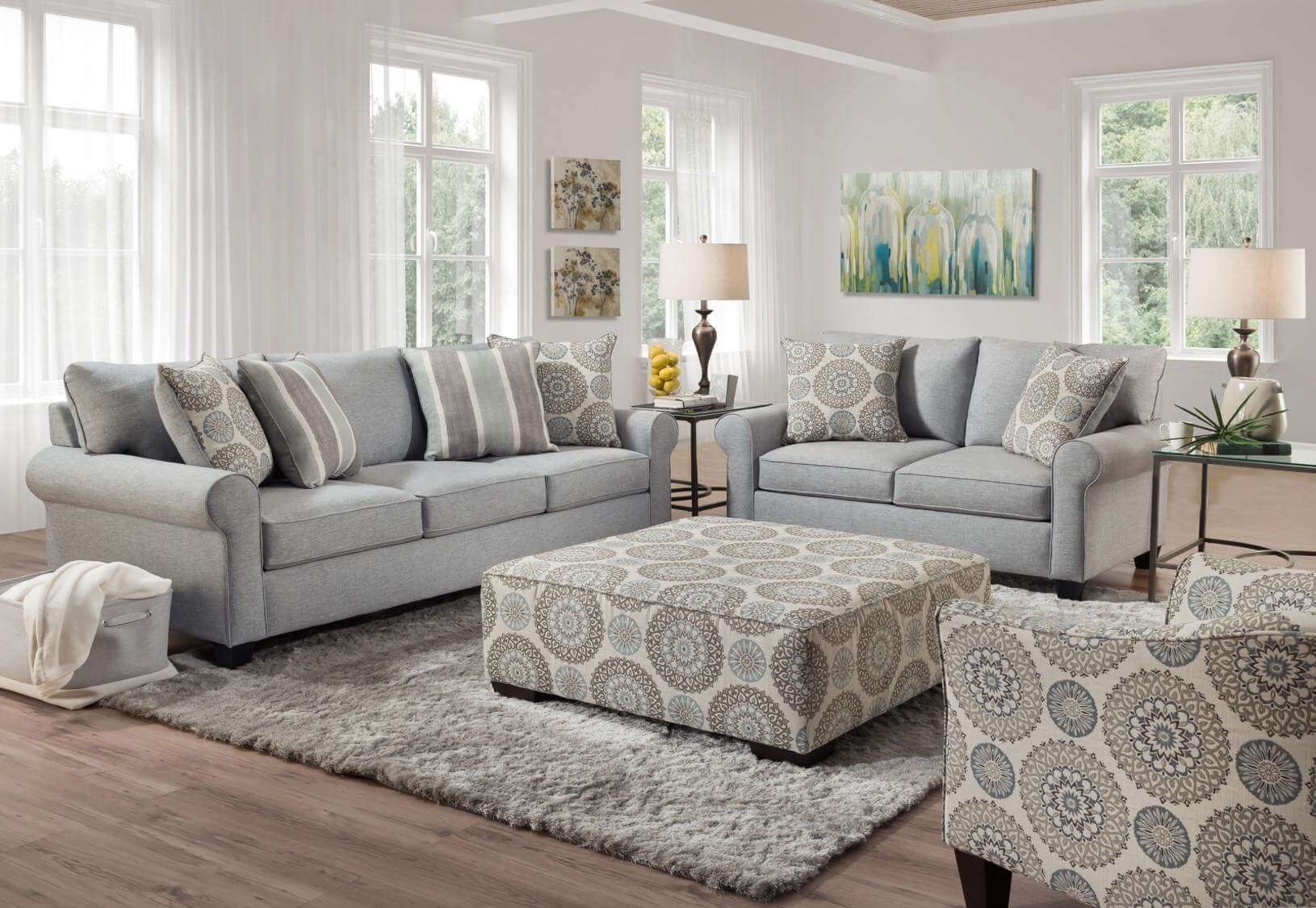 9 Vivian Spa Living Room Set
