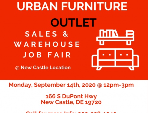 Sales & Warehouse Job Fair – September 14th, 12pm to 3pm @ UFO New Castle Store