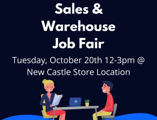 Sales & Warehouse Job Fair – October 20th, 12pm to 3pm @ UFO New Castle Store