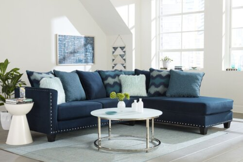 Jet Blue Sectional