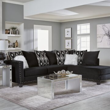 Jet Black Sectional