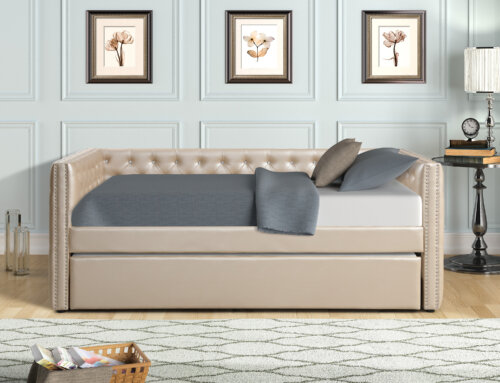 Pearl Tufted Trina Daybed with Trundle