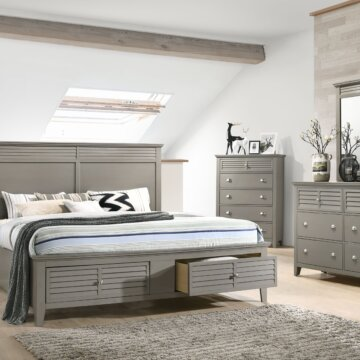 Spencer Grey Storage Bedroom Set