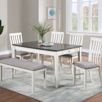 Nina Chalk Grey Dining Room Set