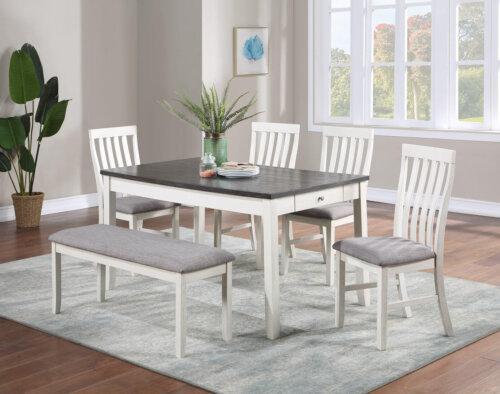 Nina Chalk Grey Dining Room Set