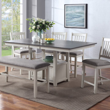 Buford Chalk and Grey Counter Height Set