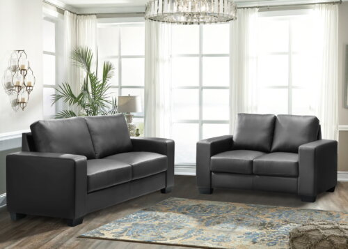Dark Grey Sofa and Loveseat