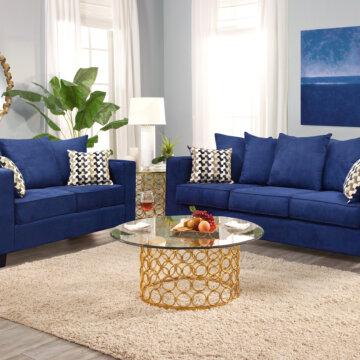 Peekaboo Royal Sofa and Loveseat