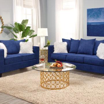 Artic Royal Sofa and Loveseat