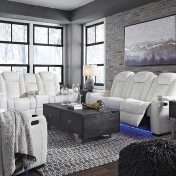 White Party Time Reclining Collection